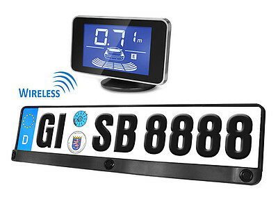 3 kits Parking Sensors Wireless Without Wire License plate Standard EU Display L