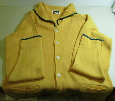 Vintage Rockline Curling Cardigan Sweater, Curling Motif Buttons