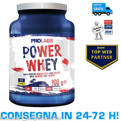PROLABS POWER WHEY 900g Proteine del Siero di Latte Concentrate ed Isolate