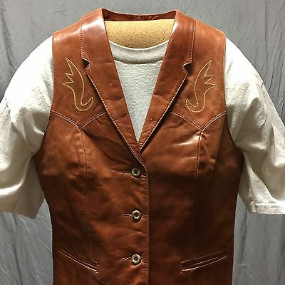 Vintage Remy Leather Fashions Genuine Made In Usa Vest - 12
