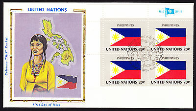 Philippines 1982 UN Filipino Flag Three Stars and a Sun with Map cachet cover