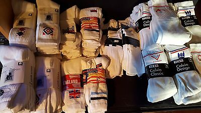 90 Pairs of White Sports  Socks Size NEW Job Lot Wholesale Clearance