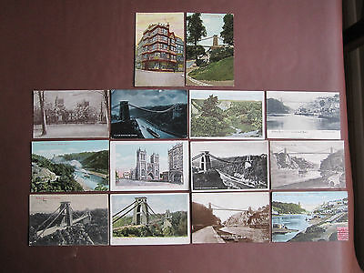 Bristol - collection of 14 vintage / old post cards - see pictures