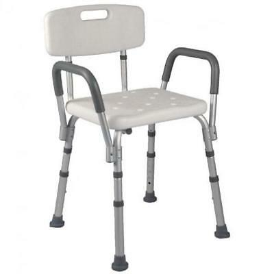 Extractable shower seat with back and arms BA44