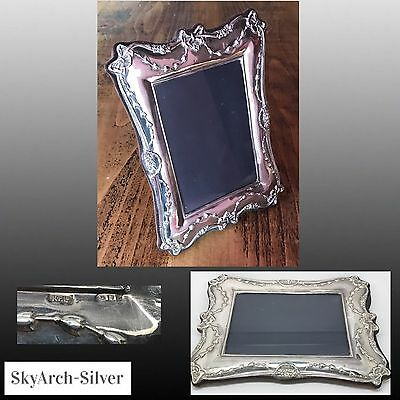 "Solid Silver~Photo Frame~Picture Frame~Hallmarked London 1989~9"" X 6.5""~Keyford~"