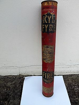 Antique Fire Extinguisher  Kyl Fyre Throw Contents With Force Into Base