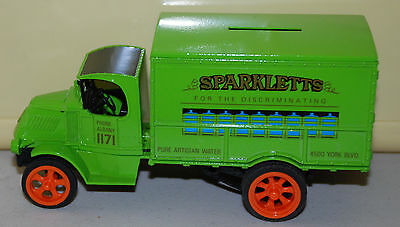 Sparkletts Pure Artisan Water 1926 Store Delivery Truck Die-cast Bank