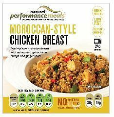 Natural Performance Meal Moroccan Style Chicken Breast With Quinoa 350g