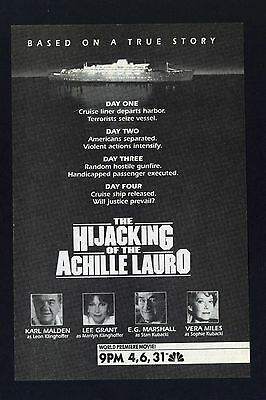 The Hijacking of the Achille Lauro~1989 TV Movie-print Ad promo (TVM1980s)