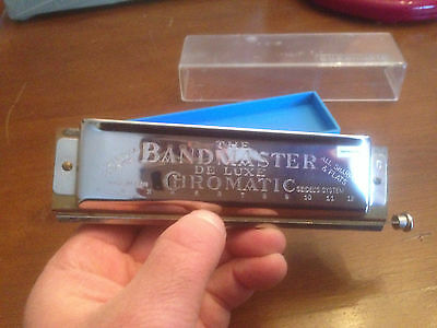Harmonica Chromatic The Band Master De Luxe 3 Octaves Vintage  ( Germany/east )