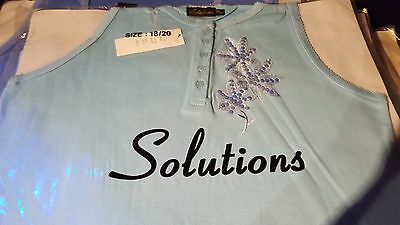 NEW 16 x Ladies Sleeveless  tops Job Lot Wholesale Clearance