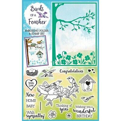 Simply Cards & Papercraft Magazine Issue 158 -Birds of a Feather Stamps & Folder