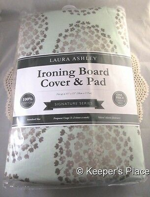 Laura Ashley Signature Series Ironing Board Cover Kira Green And Gray Floral New