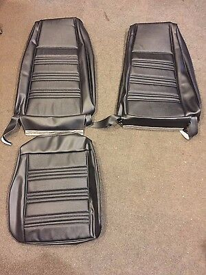 New 1970 Ford Mustang Black Front Seat Upholstery / Covers