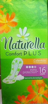 16x pads/liners Naturella comfort plus extra protection Calendula Tenderness!