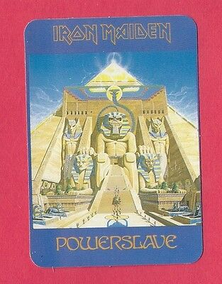 Iron Maiden Music Collectible Card 1996; Heavy Metal; New Wave; Powerslave; UK