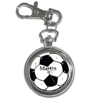 Football Soccer Customised Name Keychain  Watch **brilliant Gift Item**