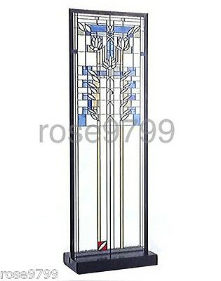 Frank Lloyd Wright Waterlilies Stained Art Glass Panel