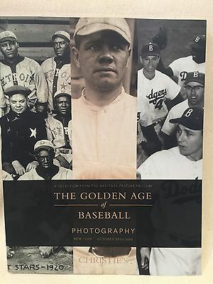 Baseball Christie's Auction Catalogue Photography Usa National Pastime Museum