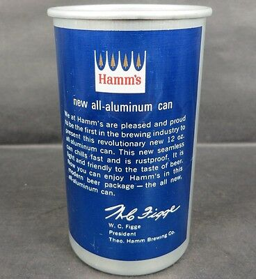 HAMM'S PRESIDENT MESSAGE BEER CAN Drinking Cup StPaul MN NEW ALUMINUM Revolution
