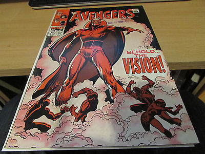 Rare 1968 Silver Age Avengers #57 Key Issue 1St Vision