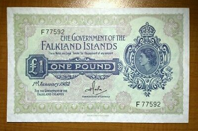 Government Of The Falkland Islands £1 Pound Banknote 1982 Pick#8 Ef