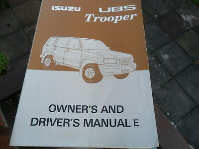 Isuzu Trooper Owner And Drivers Manual Ubs-Ie-0212