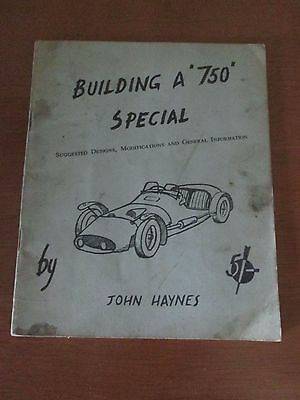 Austin 750 'building A 750 Special Original John Haynes Hand Car Manual Booklet