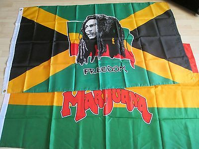 Bob Marley X2 5Ft  X 3Ft Flags (New Still Factory Sealed)