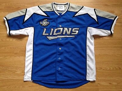 Saitama Seibu Lions Japanese Baseball Pacific League Jersey Shirt Uk L