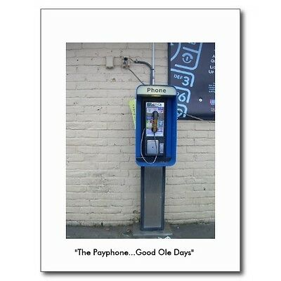 "*Postcard-""The Payphone...Good Ole Days"""