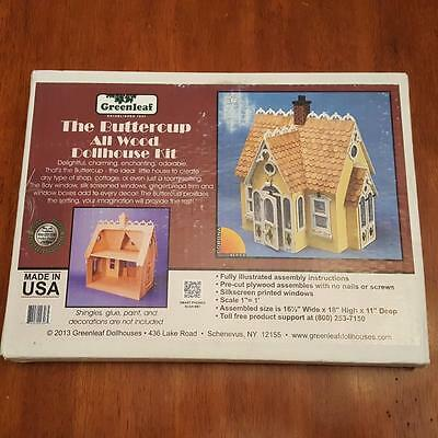 The Buttercup All Wood Dollhouse Kit by Greenleaf - New in Box - Made in USA
