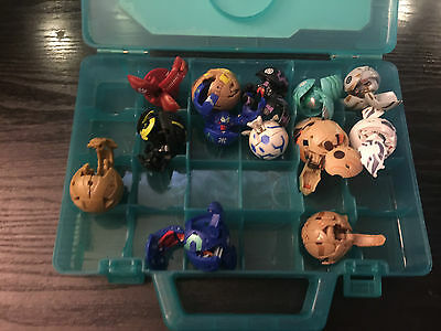 Bakugan Rare 14 Piece Bundle Toy With Official Case