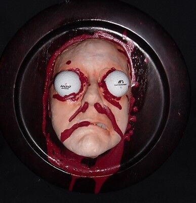 FORE ! GOLFBALL IMPACTED FACE replica LIFE SIZED GAFF FILM PROP