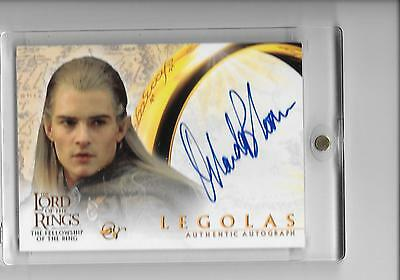 The Lord of the Rings Fellowship of the Ring Topps Orlando Bloom as Legolas Auto