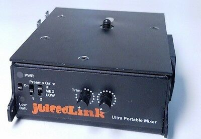 JuicedLink CX211 Portable Mixer & Preamp *Works GREAT!*