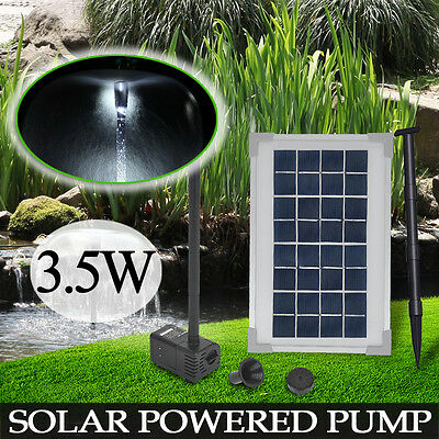 3.5W Solar Power Panel Submersible Garden Fountain Pond Pool Water Pump Kit
