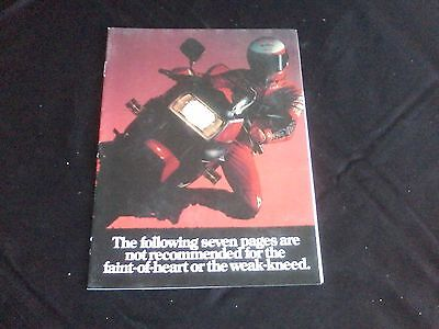 1985 guide to yamaha motorcycles 16 pages full color magazine insert
