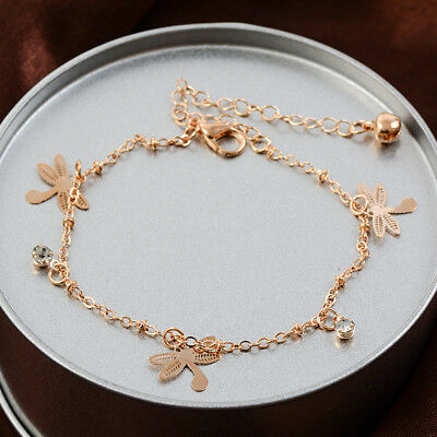 Gold Plated Chain Anklet Ankle Bracelet Barefoot Sandal Beach Foot Jewelry