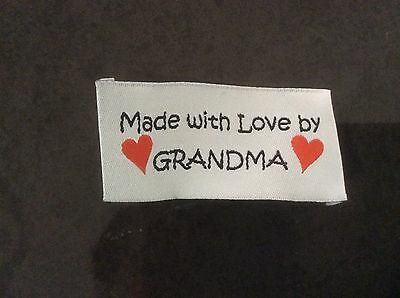5 Woven GRANDMA Labels for Clothing, Knitting, Quilting and Craft