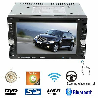 6.2'' HD Touch Screen Double 2DIN Car Stereo DVD CD MP3 Player Bluetooth Radio M