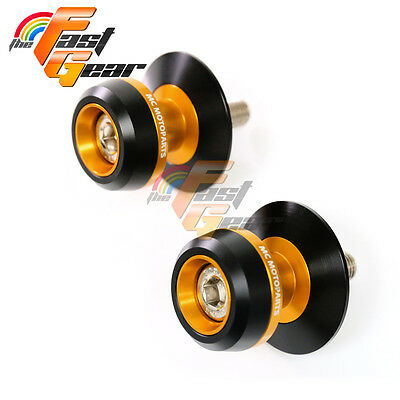 Twall Protector Gold  Swingarm Spools Sliders Fit Kawasaki Z750R 2001-2015