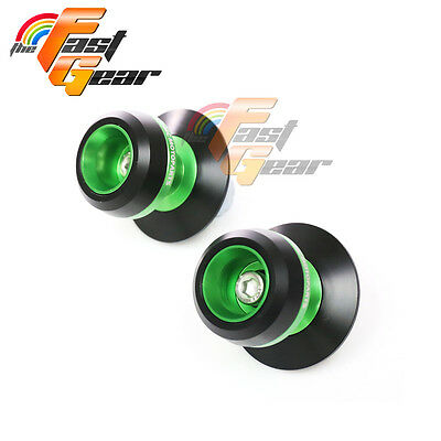 Green Twall Protector Swingarm Spools Sliders Fit Yamaha MT-09 / FZ-09 2013-2015