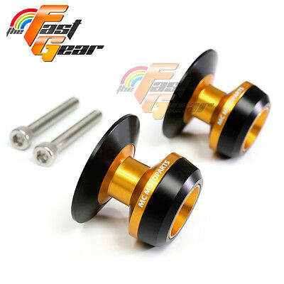 Gold Twall Protector Swingarm Spools Sliders Fit Yamaha YZF R6 1999-2015