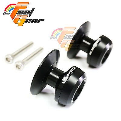 Black Twall Protector Swingarm Spools Sliders Fit Aprilia RSV4 R / Factory 09-15