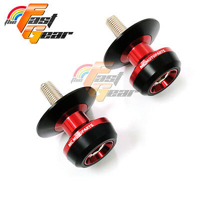 Twall Protector Red  Swingarm Spools Sliders Fit Kawasaki Ninja 300R 2013-2015