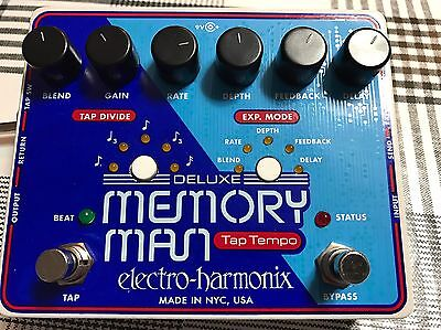 EHX Deluxe Memory Man Tap Tempo With MN3005 Chip