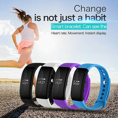V66 Sports Heart Rate Fitness Sleep Activity Smart Wrist Band Pedometer Bracelet