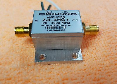 MINI CIRCUITS ZJL-4HG+ RF Amplifier 20-4000 MHz 17 dB 12V SMA Connector BW459