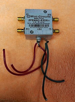 MINI CIRCUITS RF SWITCH ZFSWA2-63DR+ 0.5-6GHz 500-6000 MHz +3V +5V SMA Connector